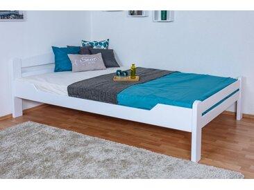 Gästebett Easy Premium Line K4/1, 140 x 200 cm Buche Vollholz massiv weiß lackiert
