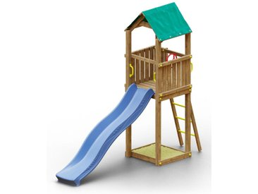 Spielturm K20 inkl. Wellenrutsche und Sandkasten FSC®