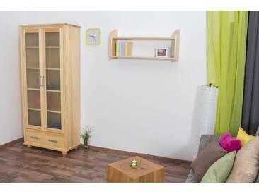 Vitrine Landhaus-Stil, Kiefer Massivholz, Farbe: Natur, Breite: 80 cm