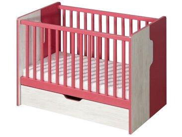 Gitterbett Justus 10, Farbe: Kiefer Rosa - Liegefläche: 60 x 120 cm (B x L)