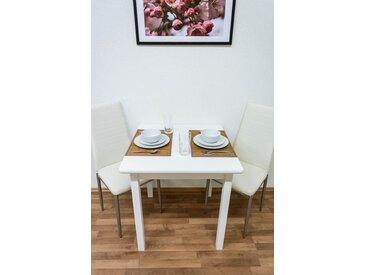 Tisch Kiefer massiv Vollholz weiß Junco 233B (eckig) - 75 x 75 cm (B x T)