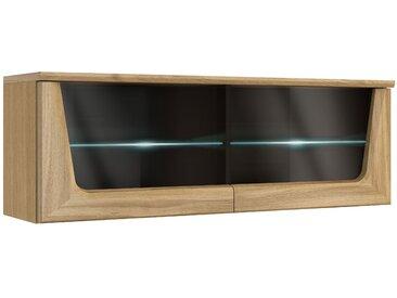 Hängeschrank Topusko 20, Farbe: Eiche / Schwarz, teilmassiv - Abmessungen: 42 x 121 x 36 cm (H x B x T)
