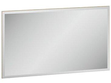 Spiegel Monclova 10, Farbe: Riviera Eiche / Weiß Glanz - Abmessungen: 55 x 92 x 2 cm (H x B x T)