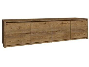 Lowboard Selun 12, Farbe: Eiche Dunkelbraun - 48 x 170 x 43 cm (H x B x T)