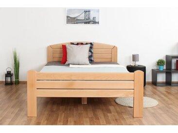 Einzelbett / Gästebett Easy Premium Line K7, 140 x 200 cm Buche Vollholz massiv Natur