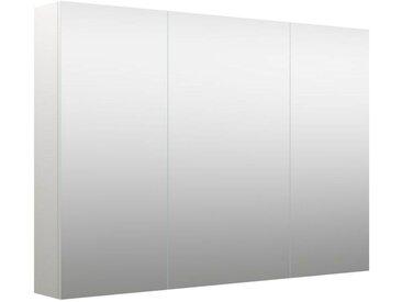 Badezimmer - Spiegelschrank Purina 05, Farbe: Weiß matt – 70 x 100 x 14 cm (H x B x T)