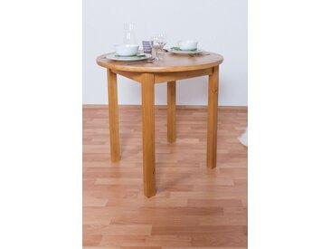 Tisch Kiefer massiv Vollholz Erlefarben Junco 234B (rund) - Durchmesser 80 cm