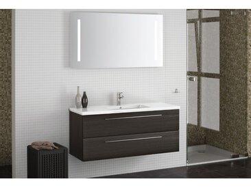 Badezimmermöbel - Set CX Rajkot, 2-teilig inkl. Waschtisch / Waschbecken, Farbe: Eiche Schwarz