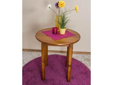 Tisch Kiefer massiv Vollholz Eichefarben 003 (rund) - Durchmesser 70 cm