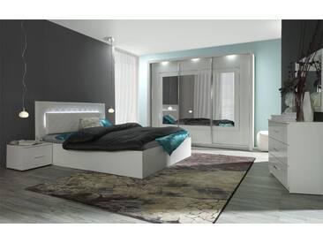 Easy Möbel Schlafzimmer Komplett   Set B Psara, 5 Teilig, Farbe: Weiß