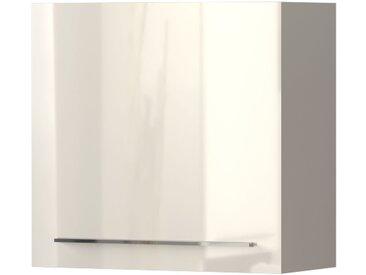 Hängeschrank Garim 38, Farbe: Beige Hochglanz - Abmessungen: 57 x 60 x 29 cm (H x B x T)