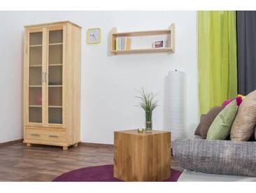 Vitrine Landhaus-Stil, Kiefer Massivholz, Farbe: Natur