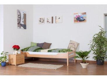 Einzelbett Easy Premium Line K1/1n, Buche Vollholz massiv Natur - Maße: 90 x 190 cm