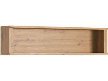 Hängeregal / Wandregal Ortstock 11, Farbe: Eiche - 33 x 130 x 25 cm (H x B x T)
