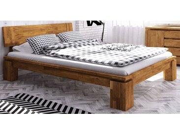 Doppelbett Tasman 01 Wildeiche massiv geölt - Liegefläche: 200 x 200 cm (B x L)