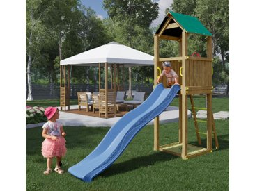 Spielturm / Kletterturm K20 inkl. Wellenrutsche und Sandkasten FSC®