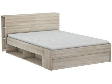 Einzelbett / Gästebett ausziehbar Damboa 32, Farbe: Eiche - Liegefläche: 140 x 190 / 200 cm (B x L)
