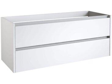 Waschtischunterschrank Kolkata 76, Farbe: Weiß glänzend – 50 x 120 x 46 cm (H x B x T)