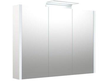 Bad - Spiegelschrank Bidar 25, Farbe: Weiß glänzend – 65 x 90 x 12 cm (H x B x T)