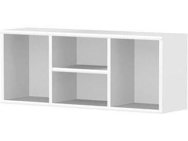 Kinderzimmer - Wandregal Benjamin 32, Farbe: Weiß - Abmessungen: 37 x 94 x 25 cm (H x B x T)