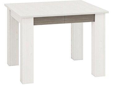 Esstisch ausziehbar Knoxville 33, Farbe: Kiefer Weiß / Grau - Abmessungen: 101-181 x 89 cm (B x T)