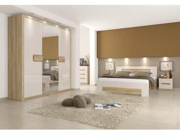 Easy Möbel Schlafzimmer Komplett   Set A Satalo, 5 Teilig, Farbe: Eiche