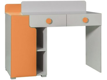 Jugendzimmer - Schreibtisch Harald 03, Farbe: Weiß / Orange - 97 x 120 x 55 cm (H x B x T)