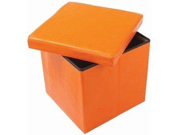 Faltbox Matteo 05, Farbe: Orange - Abmessungen: 38 x 38 x 38 cm (H x B x T)