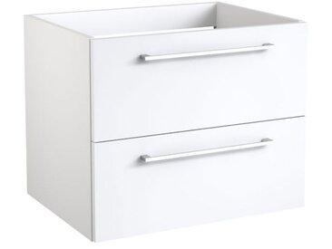 Waschtischunterschrank Rajkot 03 mit Siphonausschnitt, Farbe: Weiß matt – 50 x 59 x 45 cm (H x B x T)
