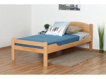 Einzelbett / Gästebett Easy Premium Line K1/ Voll, 90 x 190 cm Buche Vollholz massiv Natur