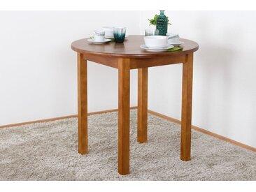 Tisch Kiefer massiv Vollholz Eichefarben Rustikal Junco 234B (rund) - Durchmesser 80 cm
