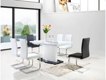 Esstisch 150x90 Cm, Ausziehbar Auf 200, Farbe: Weiß