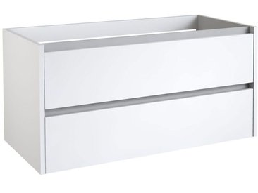 Waschtischunterschrank Kolkata 67, Farbe: Weiß glänzend – 50 x 100 x 46 cm (H x B x T)