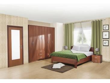 Schlafzimmer Komplett   Set A Muros, 6 Teilig, Teilmassiv, Farbe: Kirsche