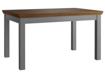 Esstisch ausziehbar Rasina 22, Farbe: Grau / Eiche, teilmassiv - Abmessungen: 120 - 160 x 80 cm (B x T)