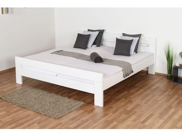3ad30d8b96ec81 Doppelbett Easy Premium Line K6, 200 x 200 cm Buche Vollholz massiv weiß  lackiert