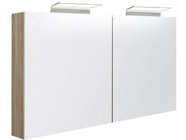 Badezimmer - Spiegelschrank Belgaum 38, Farbe: Eiche – 70 x 120 x 13 cm (H x B x T)