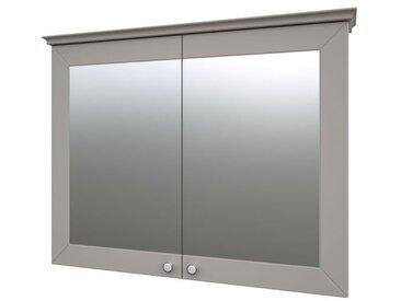 Badezimmer - Spiegelschrank Dindigul 11, Farbe: Grau – 73 x 94 x 17 cm (H x B x T)