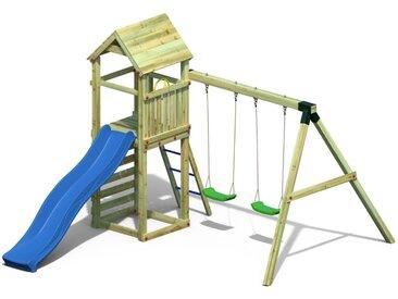 Spielturm 3 inkl. Wellenrutsche und Doppelschaukel FSC®