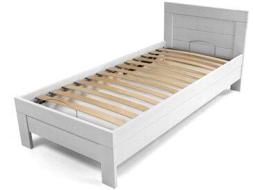 Kinderbett / Jugendbett Tolosa 01 inkl. Staukasten und Lattenrost, massiv, Farbe: Weiß - 90 x 200 cm (B x L)
