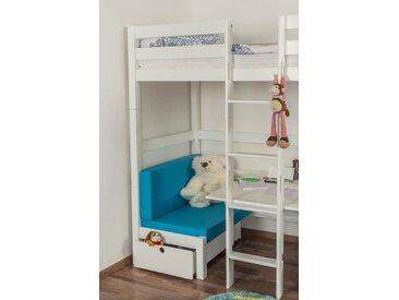 Sitzkissen 2er-Set für Kinderbett / Etagenbett / Funktionsbett Tim - Farbe: Blau