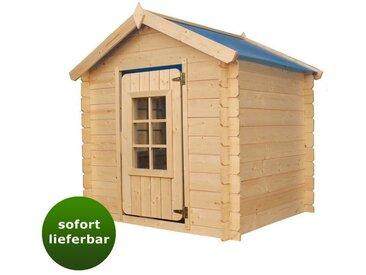 Spielhaus Happy Park Blau - 1,05 x 1,05 Meter aus 13 mm Blockbohlen