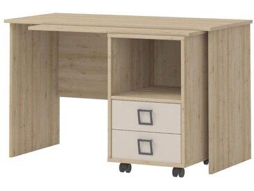 Kinderzimmer - Schreibtisch Benjamin 29, Farbe: Buche / Creme - 76 x 125 x 60 cm (H x B x T)