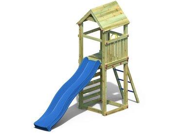 Spielturm 1 inkl. Wellenrutsche FSC®