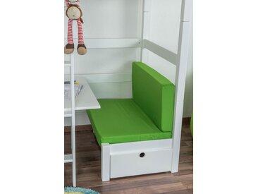 Sitzkissen 2er-Set für Kinderbett / Etagenbett / Funktionsbett Tim - Farbe: Grün