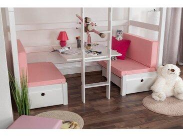 Sitzkissen 2er-Set für Kinderbett / Etagenbett / Funktionsbett Tim - Farbe: Rosa