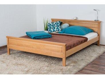 Doppelbett / Gästebett Wooden Nature 141 Buche massiv natur - 160 x 200 cm (B x L)