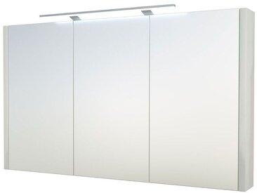 Bad - Spiegelschrank Bidar 31, Farbe: Weiß glänzend – 65 x 110 x 12 cm (H x B x T)