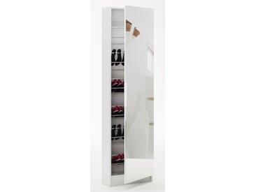 Schuhschrank Furna 15, Farbe: Weiß - Abmessungen: 181 x 50 x 20 cm (H x B x T)