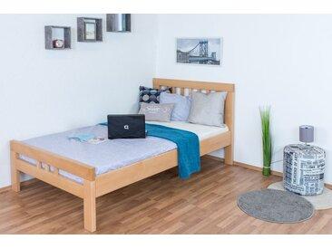 a2f97d37ae6588 Einzelbett / Gästebett Easy Premium Line K8, 120 x 200 cm Buche Vollholz  massiv Natur
